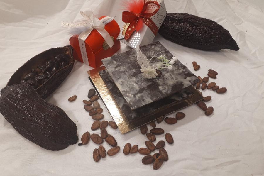 Boite garnie en chocolat