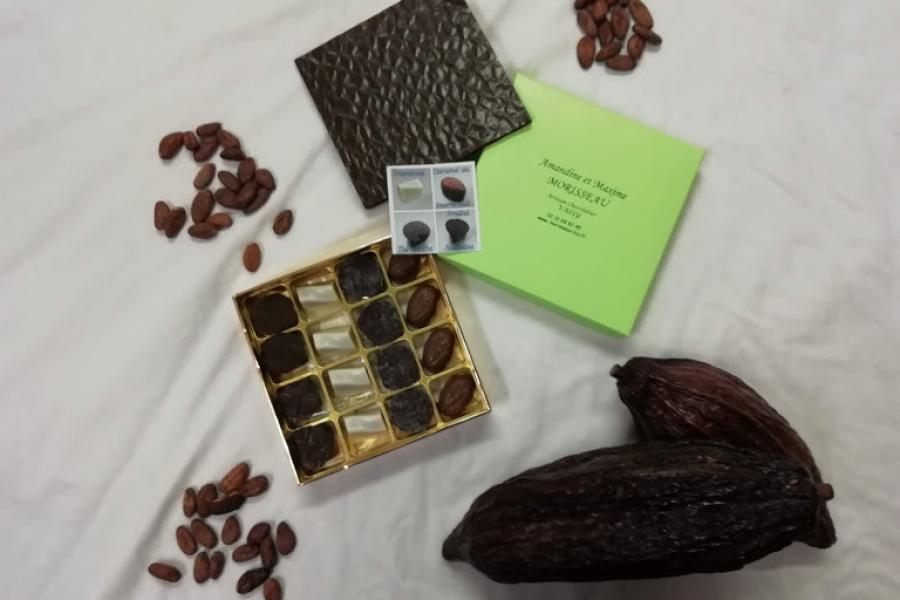 Boite de bonbons en chocolat bio