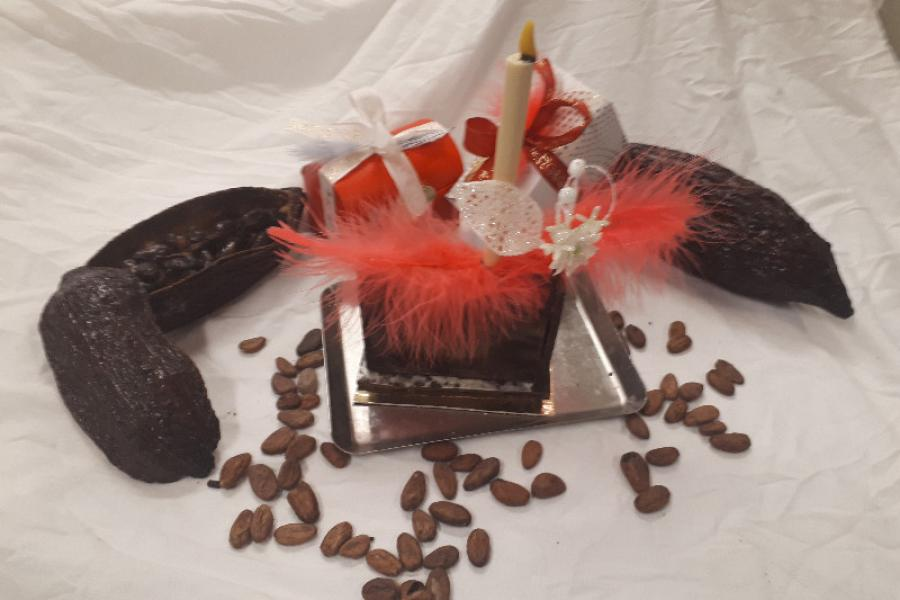 Centre de table en chocolat